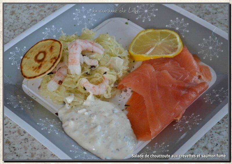 salade de choucroute et saumon fumé