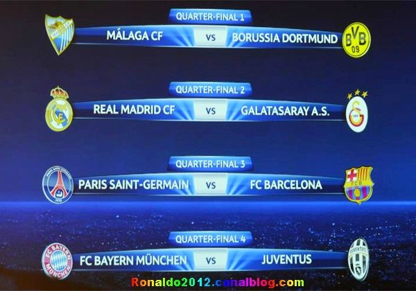 Champions League quarter-finals Real Madrid x Galatasaray