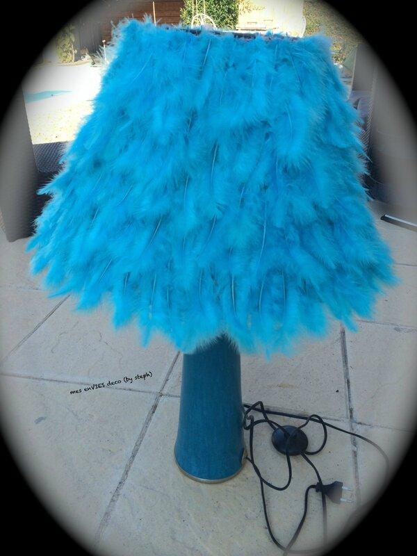 abat-jour pied turquoise