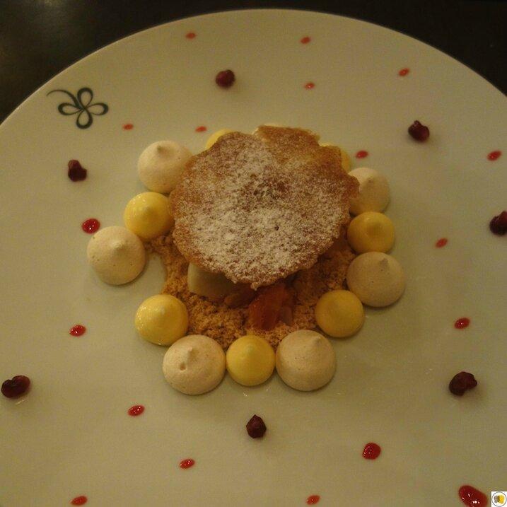 Citron du Pays _Minosa_ en tartelette renversée, meringue au fenouil, grenades, sorbet fenouil (2)