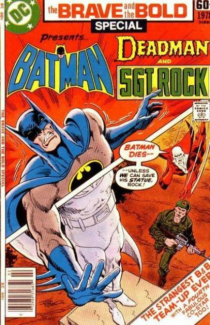 the brave and the bold special batman deadman sgt rock