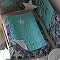 housse matelas à langer étoiles nuage rêve turquoise gris violet liberty mauvey 2
