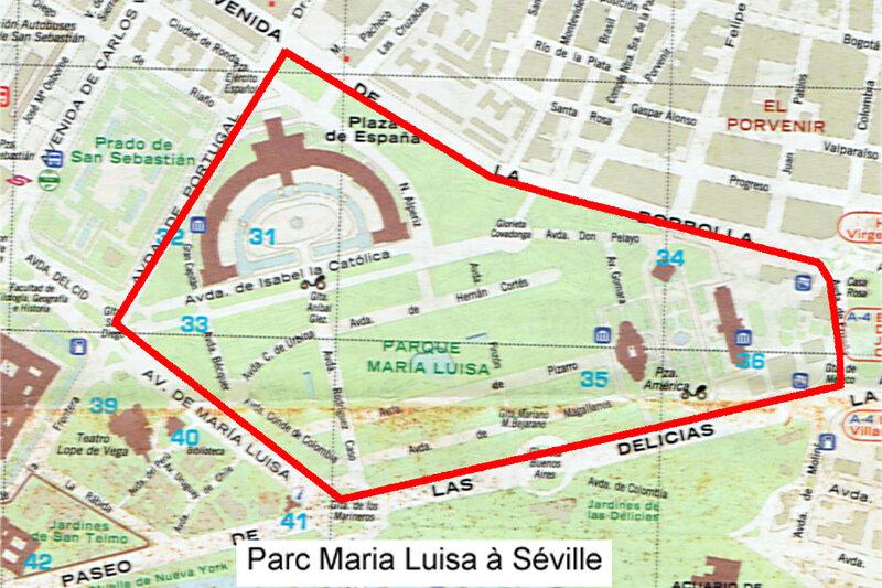 Plan-Parc-Maria-Luisa-à-Séville