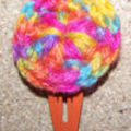 Barrette crochet - Rainbow -