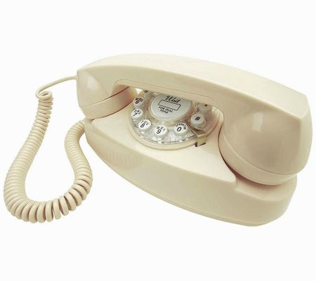 cream princess phone