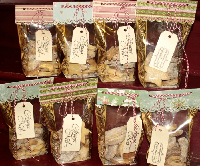 sachet biscuit noel Cadeaux des maitresses pour Noël !   Petit Scrap entre Amies sachet biscuit noel