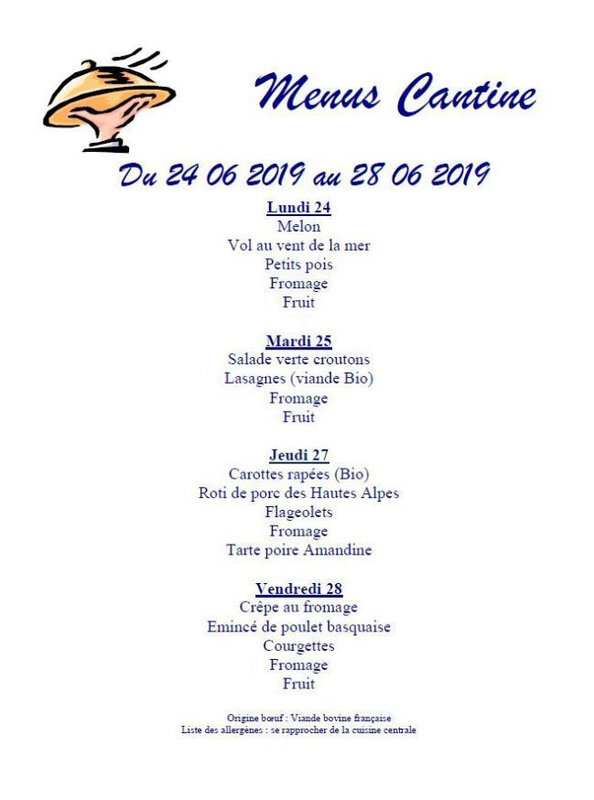 cantine 24 06 2019