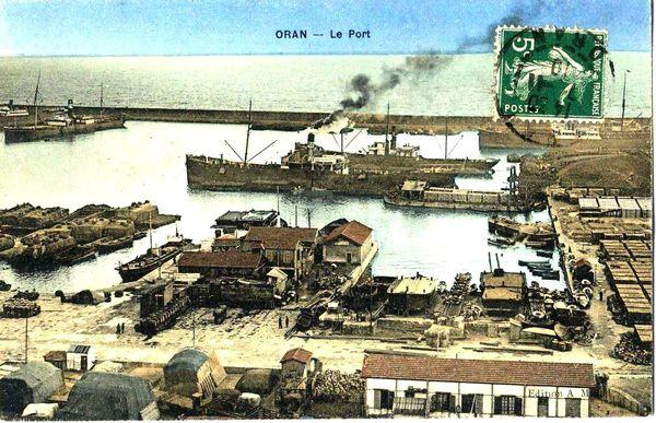 Oran- 142- travail sur les quais