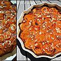 Clafoutis aux amandes, abricots rôtis au miel !!!
