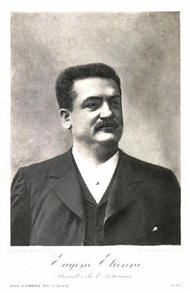 Visite ministérielle à Belfort le 23 avril 1913, le ministre de la guerre Eugène Etienne