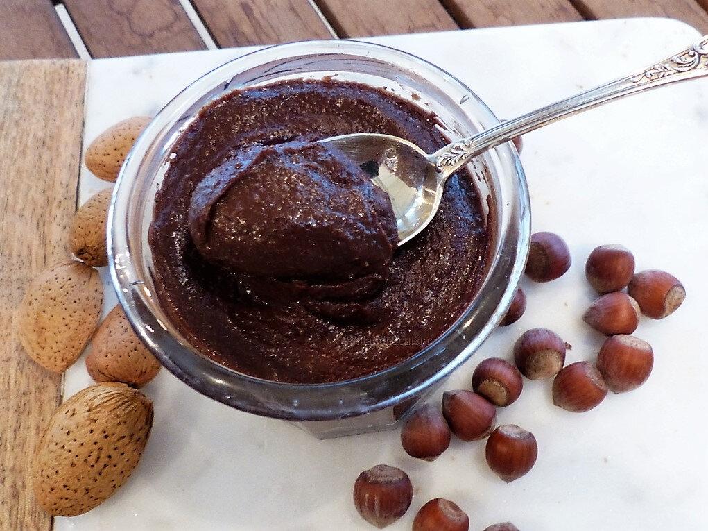 Pâte à tartiner chocolat noisette, saine et gourmande