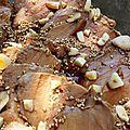 Emincé de filet mignon mariné soja & sésame