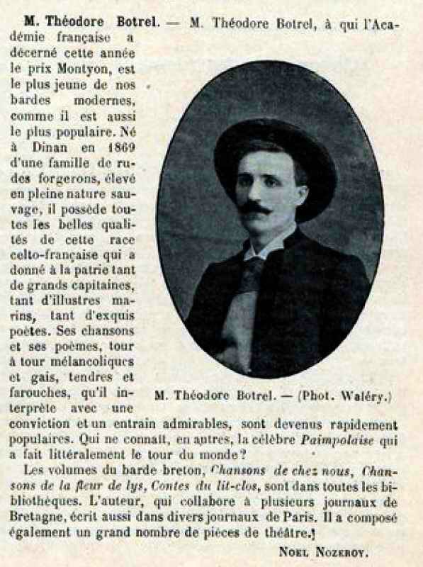Théodore Botrel Le monde illusré