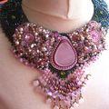 plastron quartz rose 2
