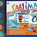 Technique sable coloré