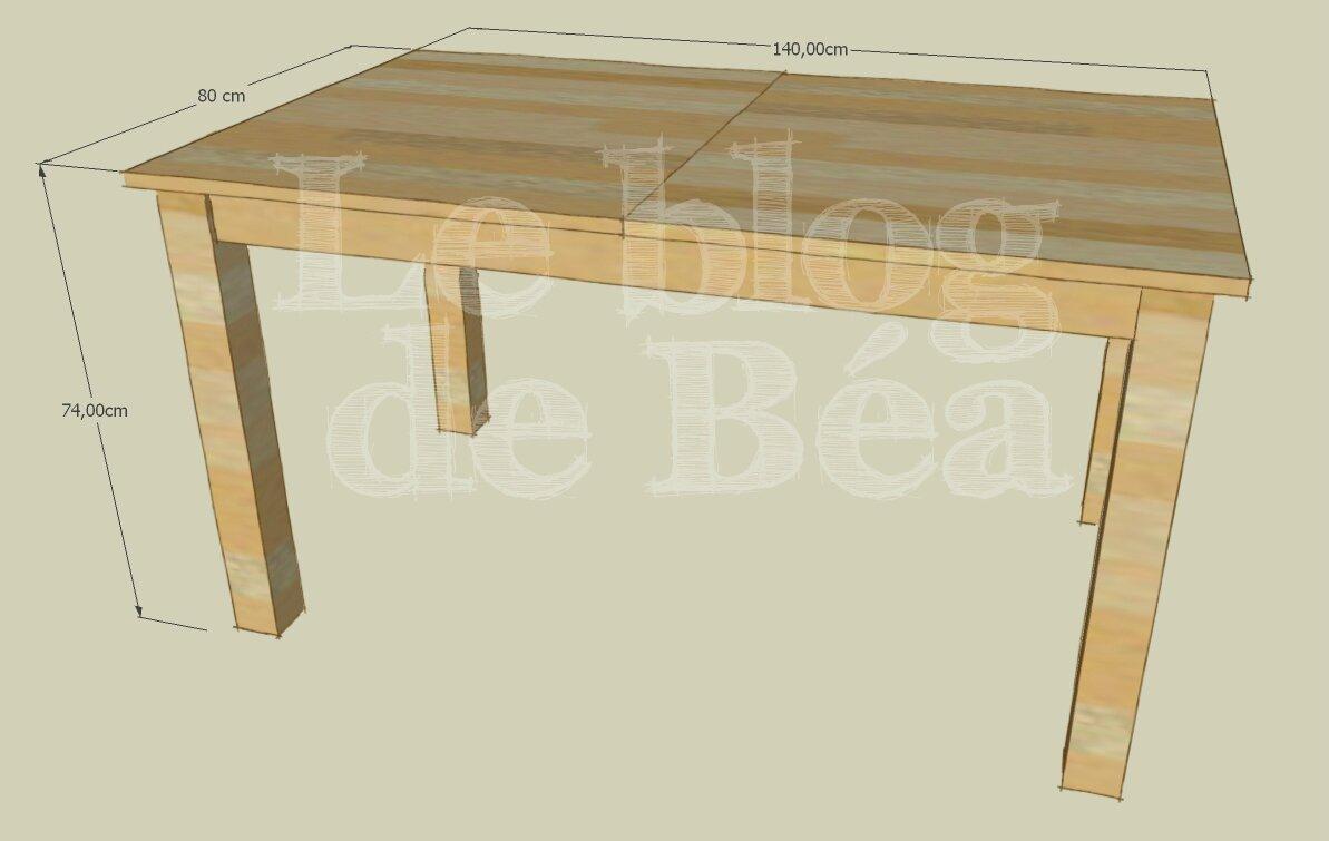 Table de salle à manger extensible en bois de palette