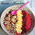 Smoothie bowl ananas framboise