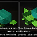 Origami animaux drôles -boîte tortues-