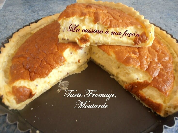 tarte fromage + moutarde 2