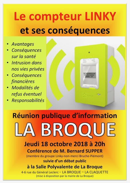 Affiche Linky La Broque 18oct2018