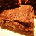 Brownie aux noix de pécan.