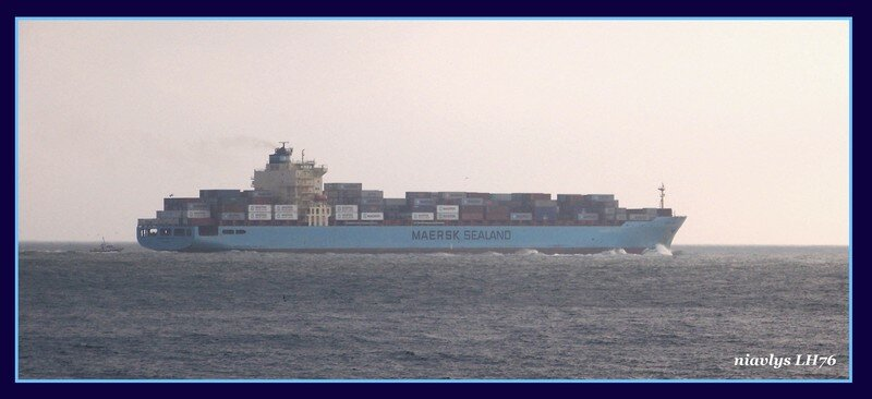 Le Dallas Maersk sort du Havre