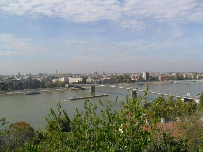 Le Danube et Novi Sad vue de la forteresse