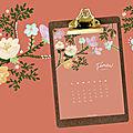 Plannings mensuels : février 2019 (gratuit - à imprimer)