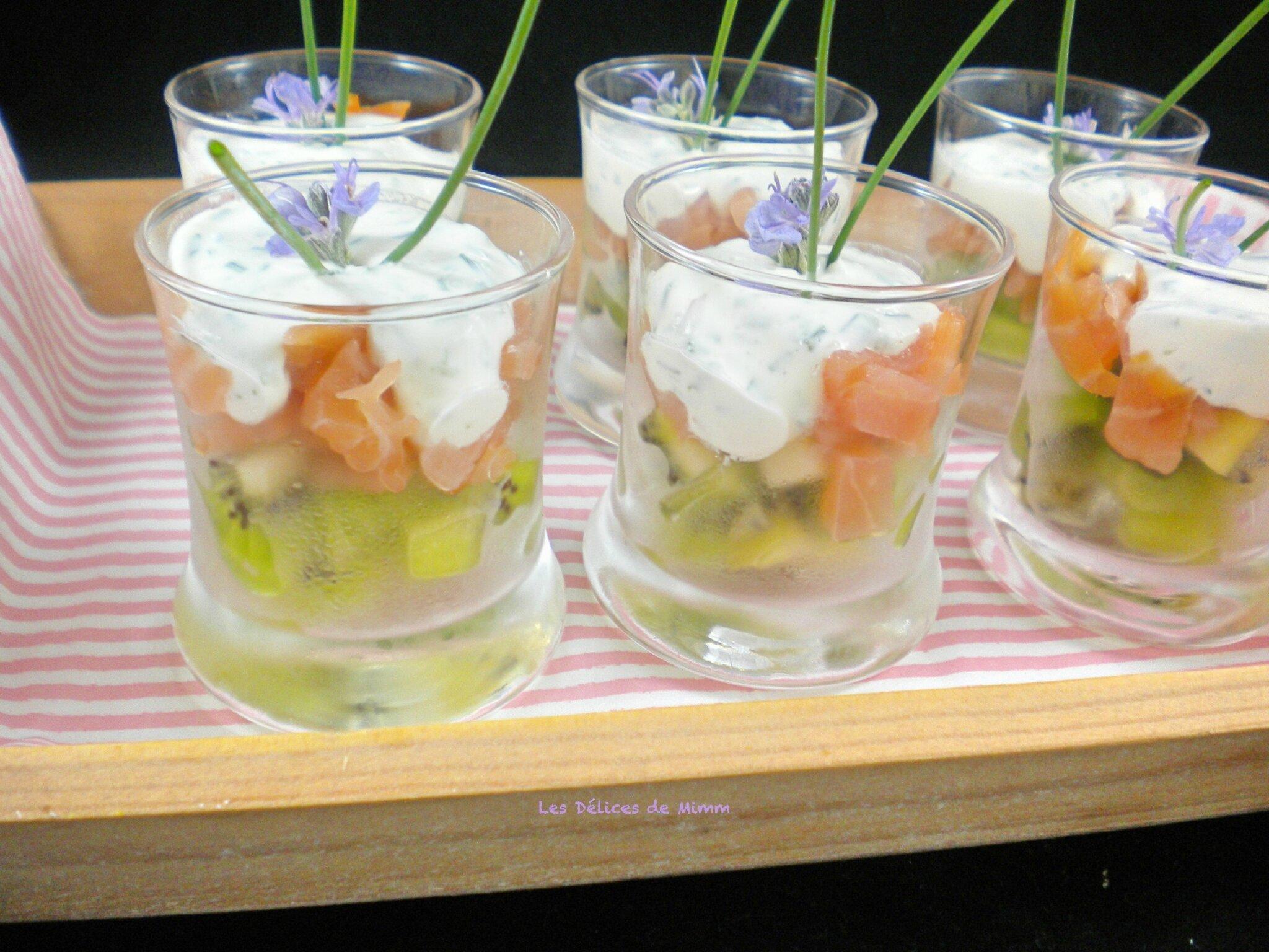 Verrines Au Saumon Fume Et Au Kiwi Les Delices De Mimm