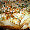 Tarte brick saumon, crevette et aneth + partenaire