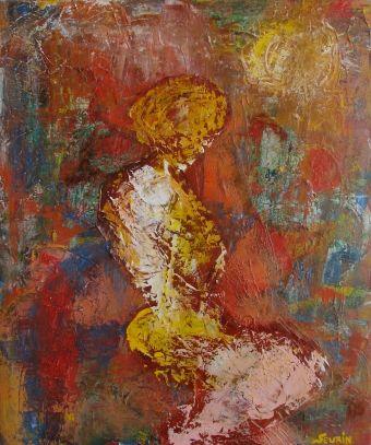 La femme éternelle (acrylique sur chassis entoilé; 55 cm x 46 cm ; 2004 . Collection de l'artiste)