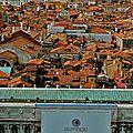 Vue partielle de Venise depuis le sommet du campanile.