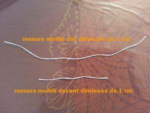 mesures diminuées de 1 cm