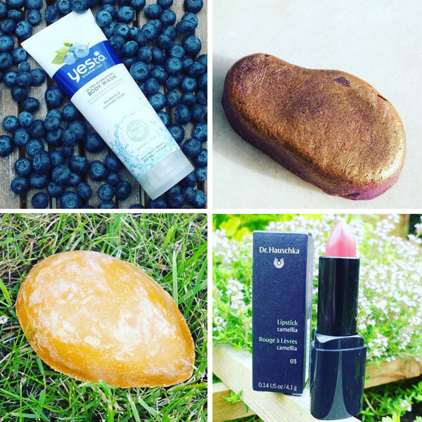 post instagram yes to blueberry lush dr hauschka rouge à lèvres