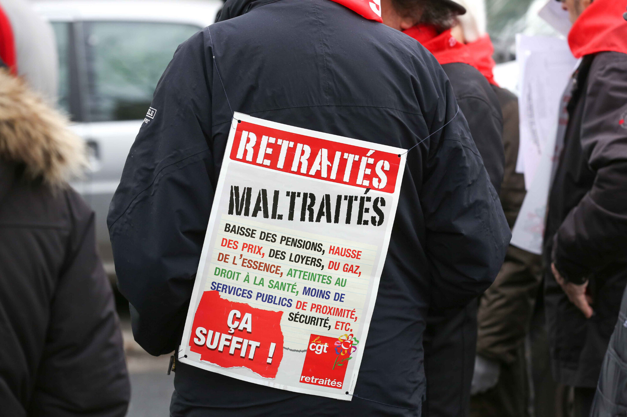 Retraités : « le coût de la vie ne cesse d'augmenter et nos pensions de baisser ». © Michel Stoupak. Jeu 31.01.2019, 14h57m04.