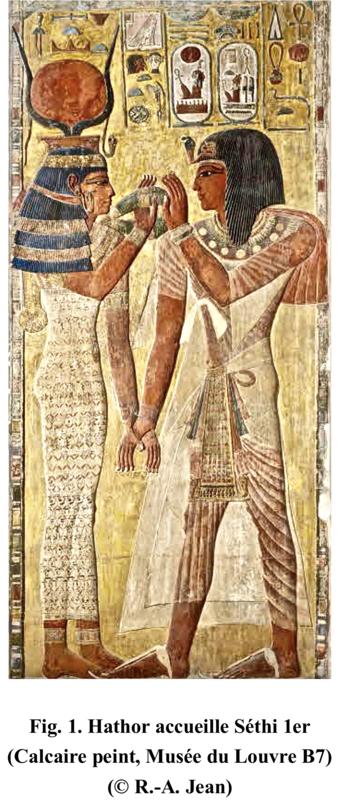 Hathor + Séthi 1er - louvre B7
