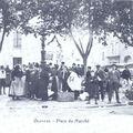 Olonzac - place du marché
