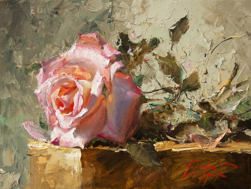 Roses Canvas-Painting-of-Rose
