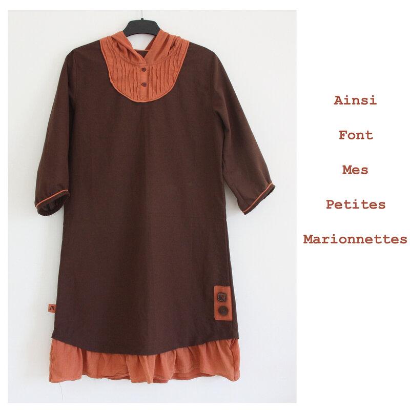 tunique robe marron (6)