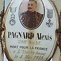 Pagnard alexis (crozon sur vauvre) + 04/05/1915 lizerne (belgique)