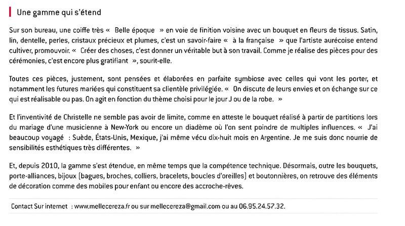 Aurec-sur-Loire Melle Cerezasavoir-faire mariage loire haute loire