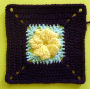 200 carrés Fleur flash