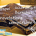 The gospel according to barnabas: are revelations comparble to the koran?